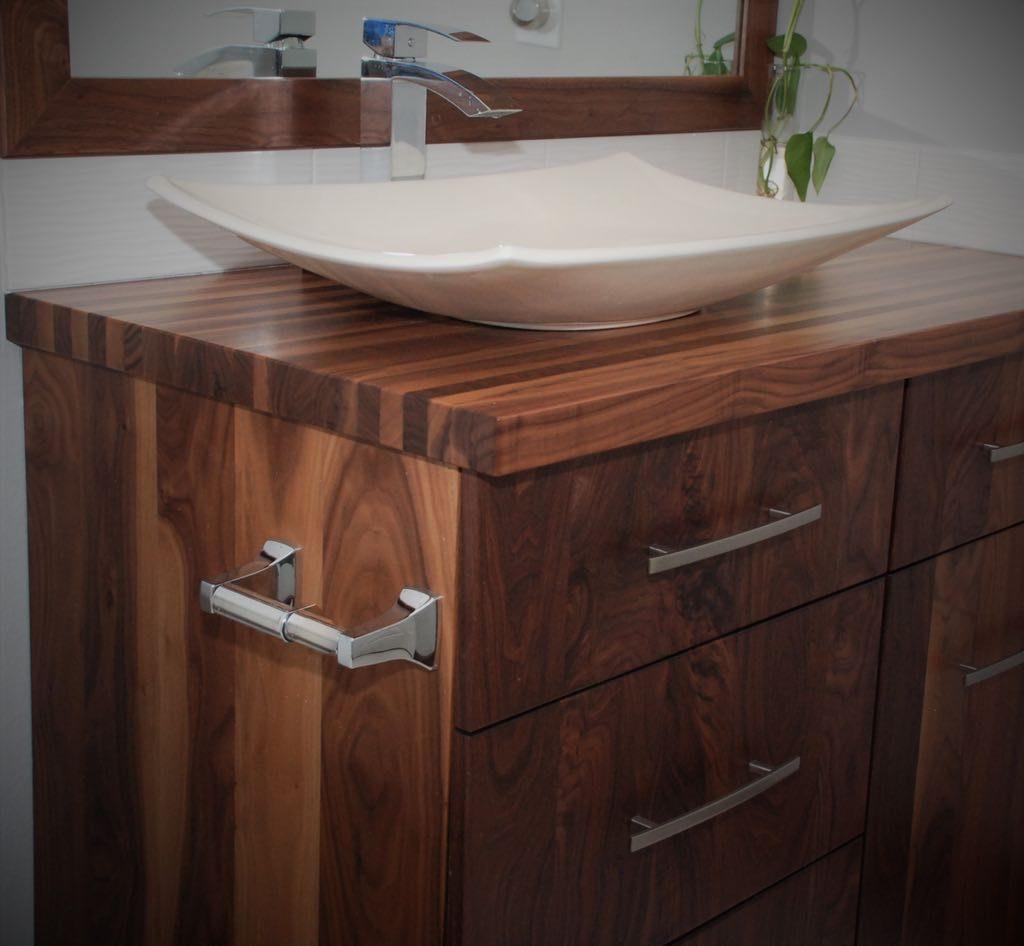 All Walnut Bathroom Vanity