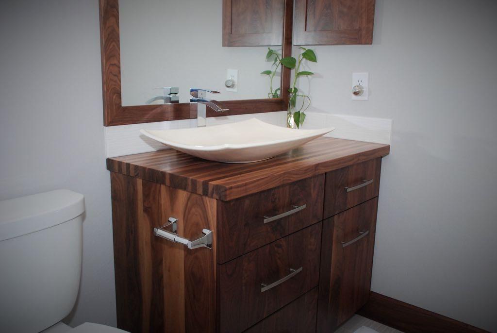 portfolio baths feet posts and dickinson bathroom sinks vanities modern vanity with metal cabinetry walnut