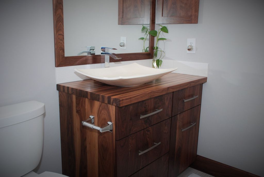 All-Walnut Bathroom Vanity