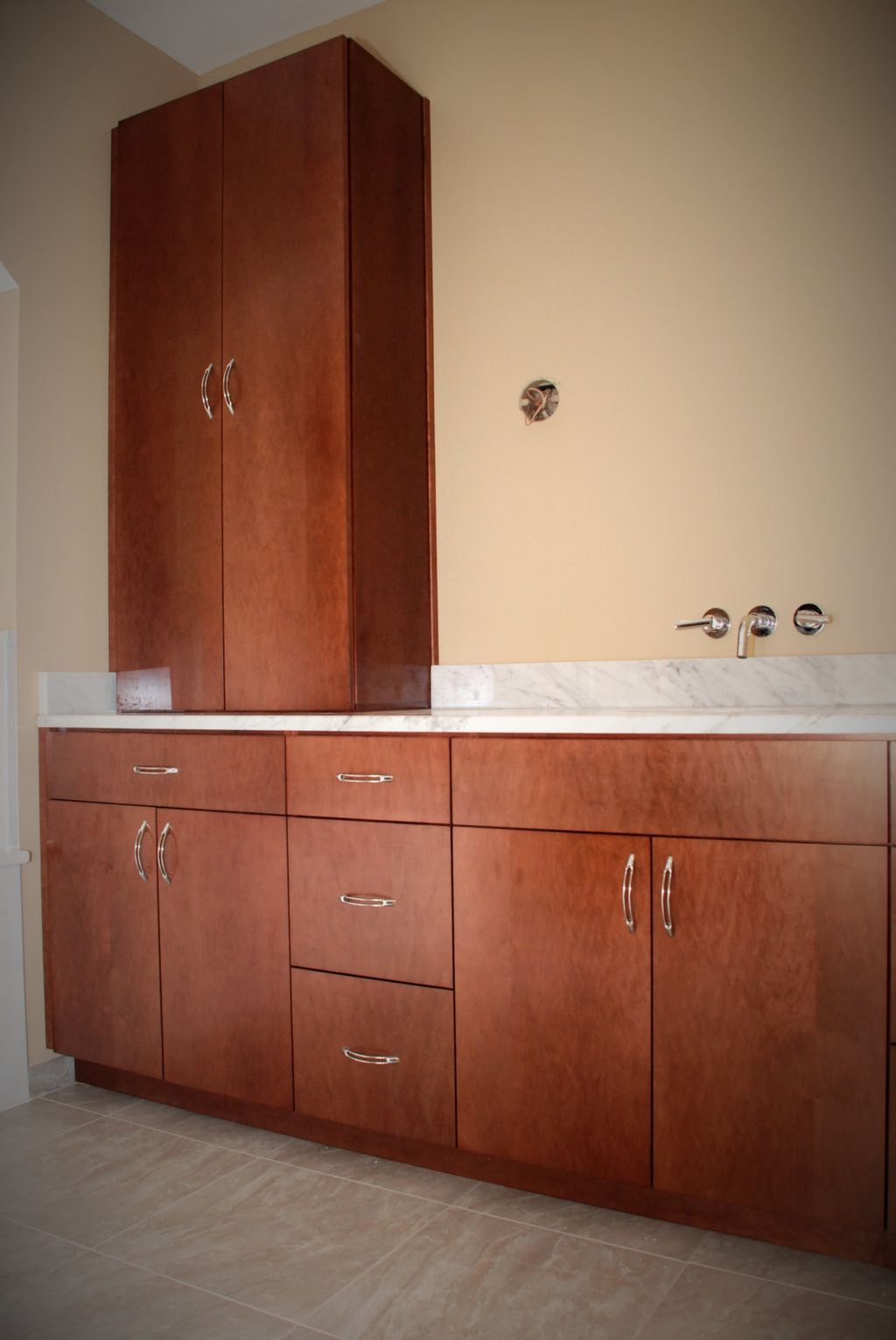 Jacomo Bathroom Vanity and Linen Cabinet