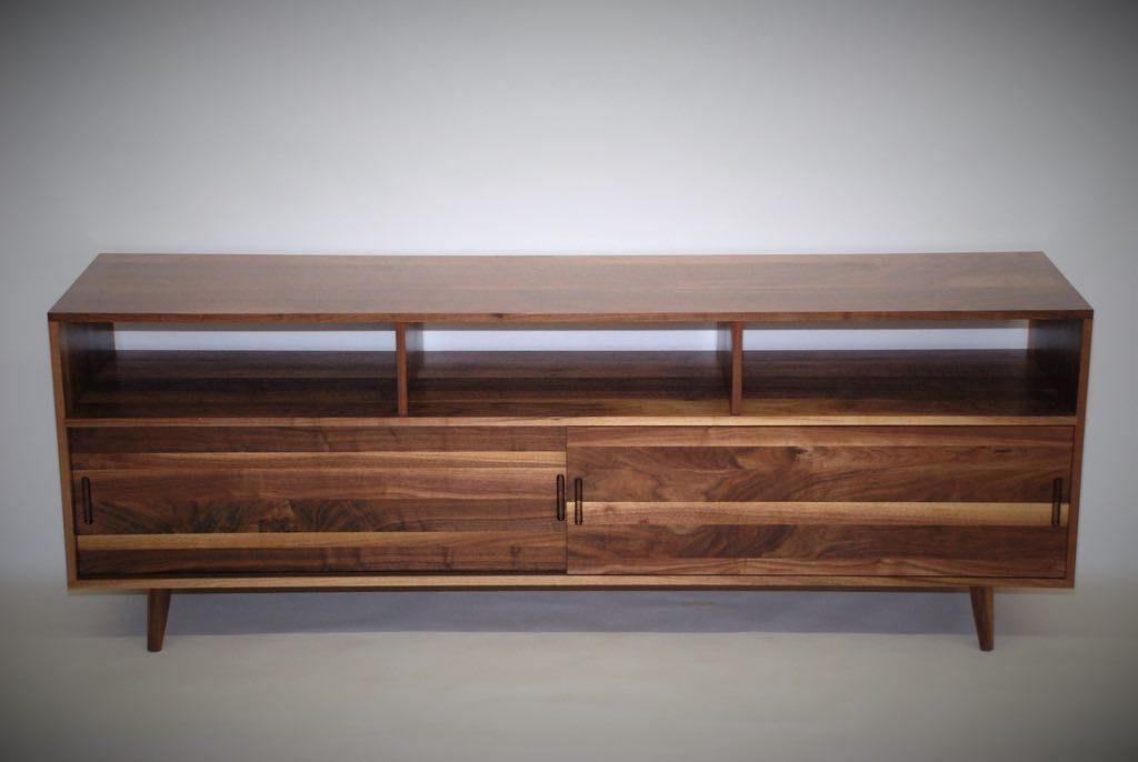 Mid Century Media Console Belak Woodworking Llc