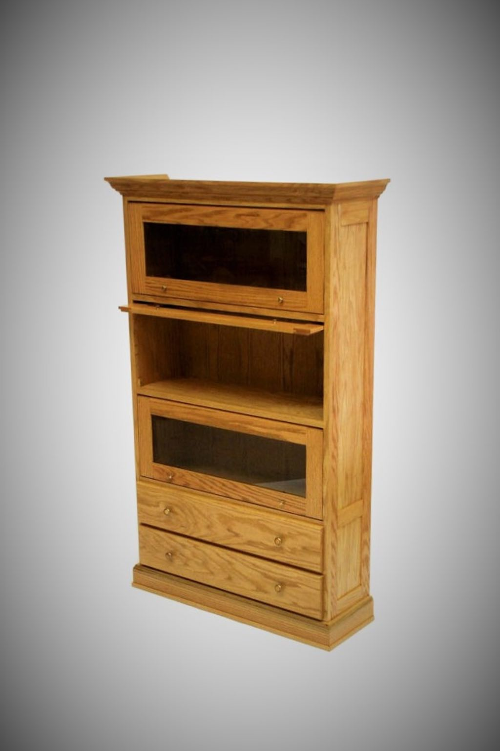 Oak Barrister Bookcase
