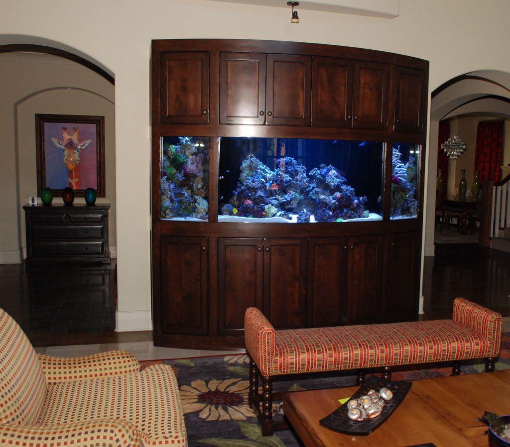 Rustic Radius Aquarium Stand