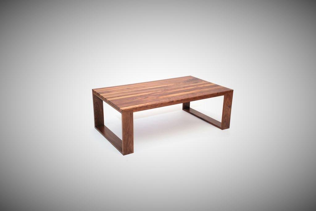Walnut Geo Leg Coffee Table