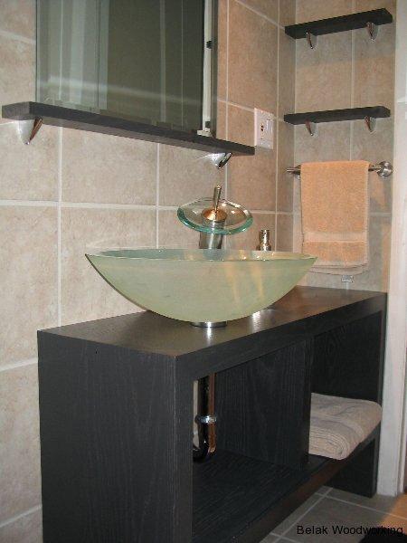 Contemporary Bathroom Vanity Belak Woodworking Llc