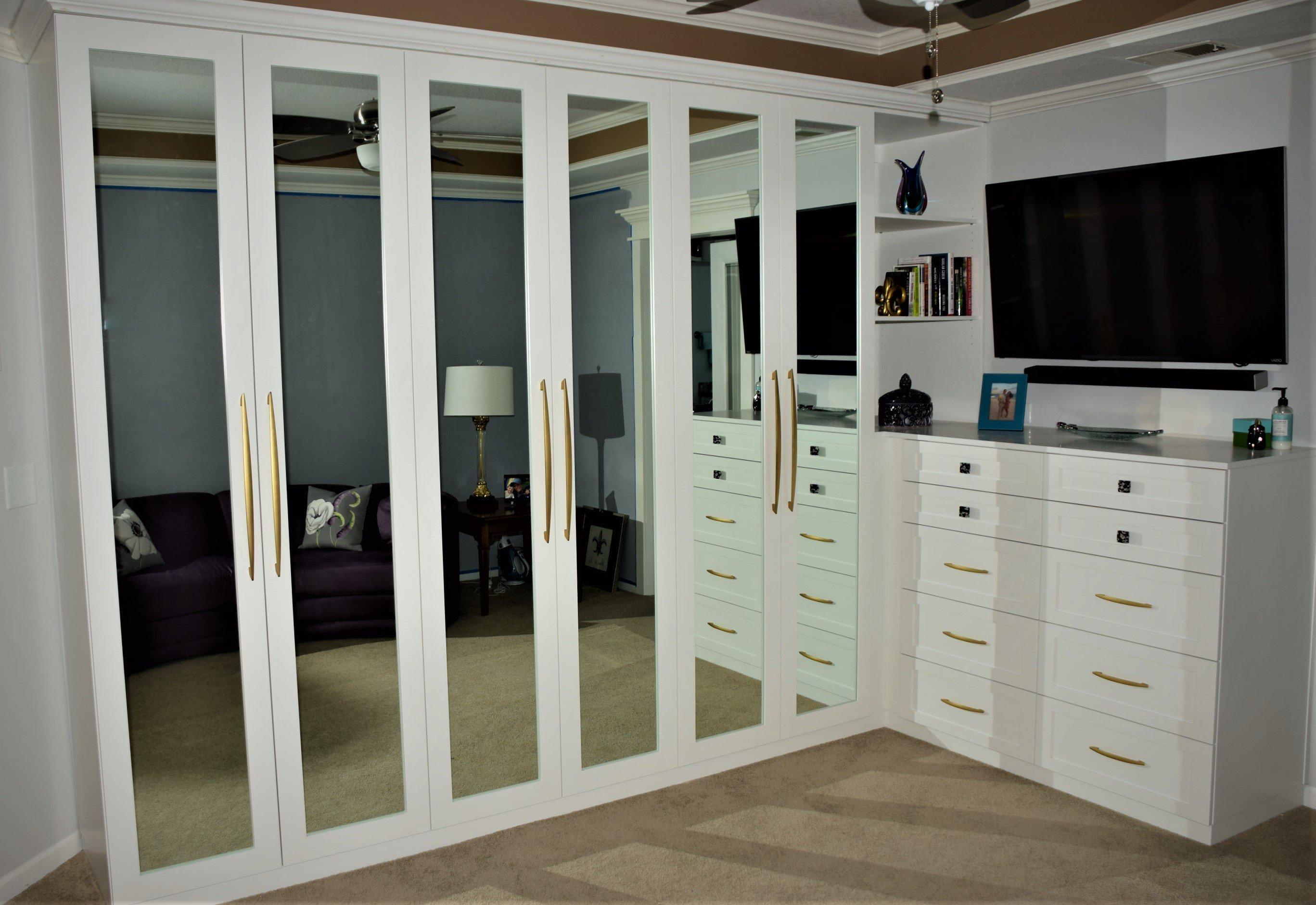 White Built-In Closet Unit