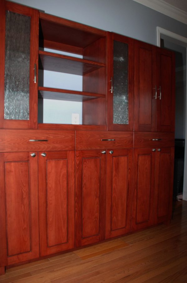 Kitchen Cabinet Unit in Red