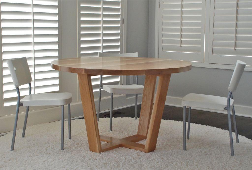 Angled Leg Round Table Belak Woodworking