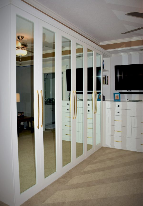 White Built-In Closet Unit