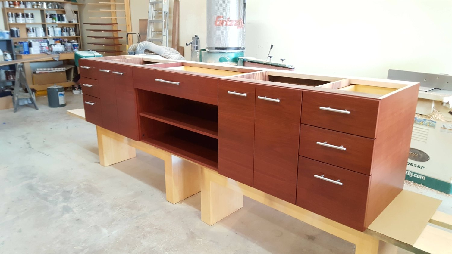 Woodworking Home Furniture & Living Room style photo custom & crafted by Belak woodworking llc in Shawnee Mission, Kansas — Furniture Built in Closet units & Skilled Industrial Laborer in Carpentry Kansas City, US